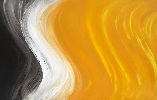 Abstract oil-painted curves