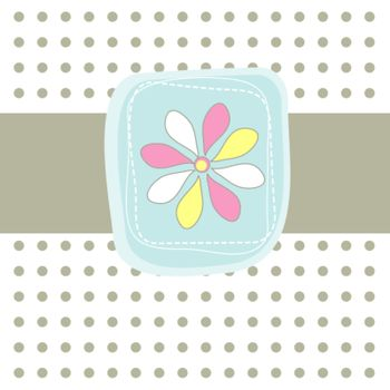 Simple card with flower. Vector illustration