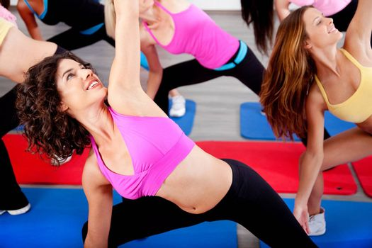 close up of female doing aerobics exercise
