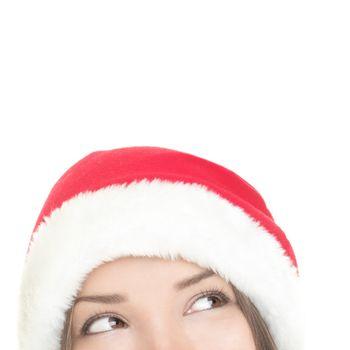 Santa woman looking up