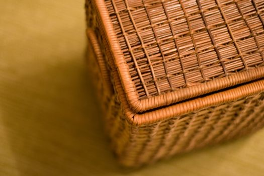 basket on a floor