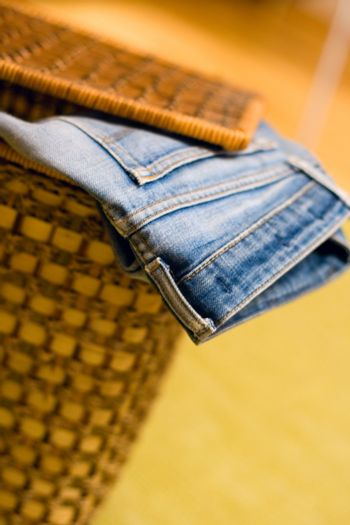 jeans in a basket
