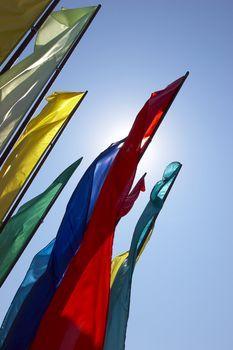 multicolor flags