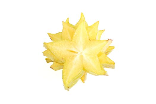 Star Fruit with Clipping Path
