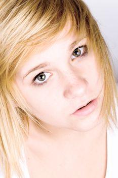 portrait of beautiful blond girl