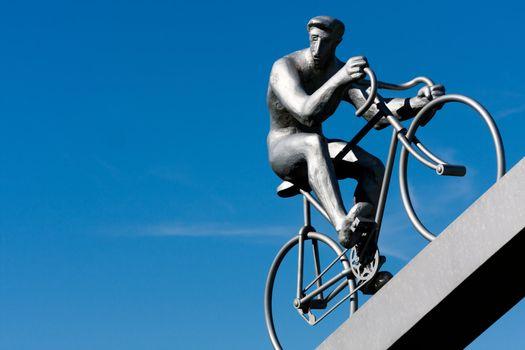 cyclist climbing