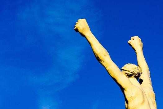 Gesture of the conqueror