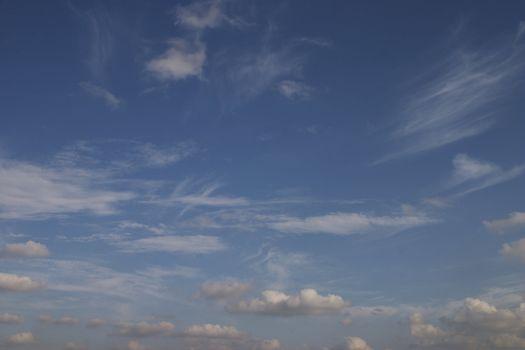 high fleecy clouds