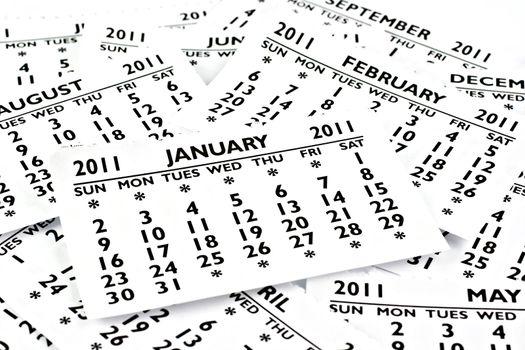 January 2011 - Calendar.