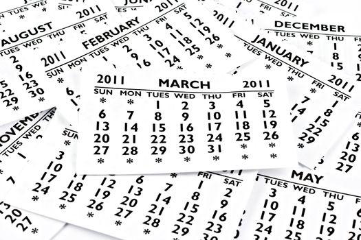 March 2011 - Calendar.