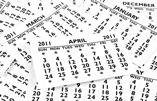 April 2011 - Calendar.