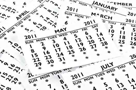 May 2011 - Calendar.