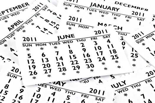 June 2011 - Calendar.