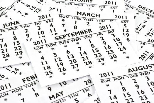September 2011 - Calendar.
