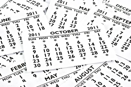 October 2011 - Calendar.