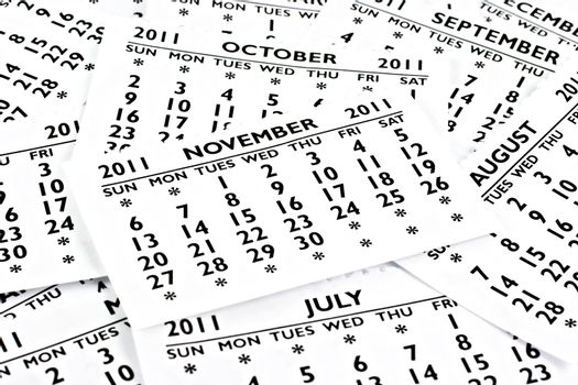 November 2011 - Calendar.