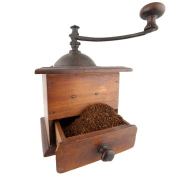 Traditional coffee grinder
