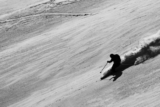 Freeride in Mountains. Siberia