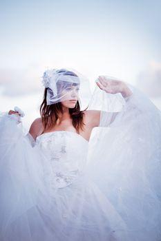 Fluffy bride