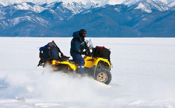 Travel on an ice of Baikal