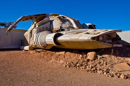 space ship monument in coober pedy, south australia