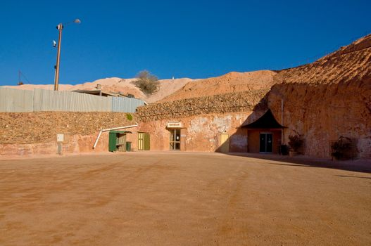 house in the small city of coober pedy, outback australia