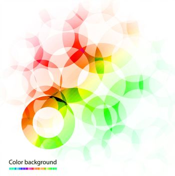 Beautiful abstract colorful background illustration for design