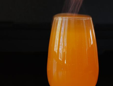 Oranged coctail with a fizz