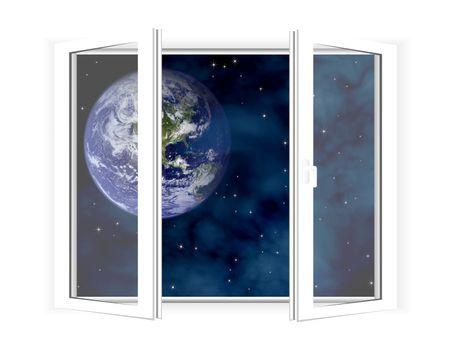 Window in space