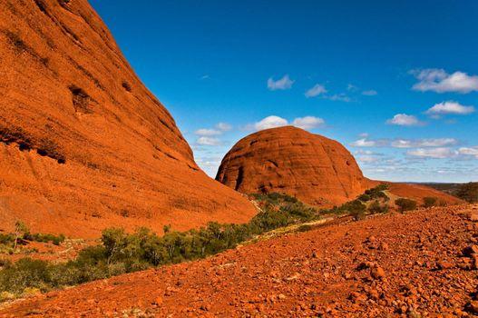 view of Kata Tjuta, australian red center