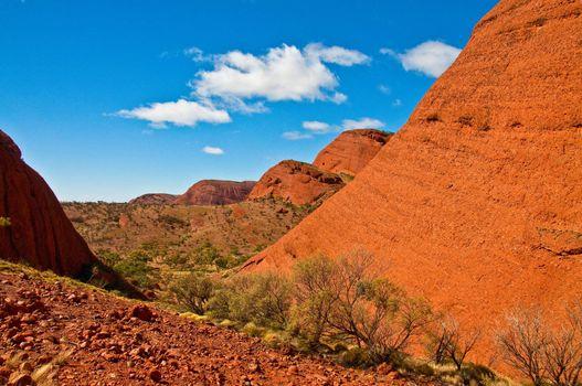rock of Kata Tjuta, australian red center