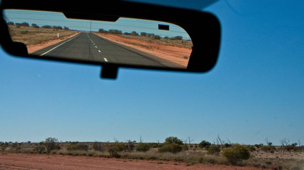 on the road in the australian outback, australia