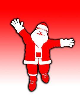 Toon Santa Jumping