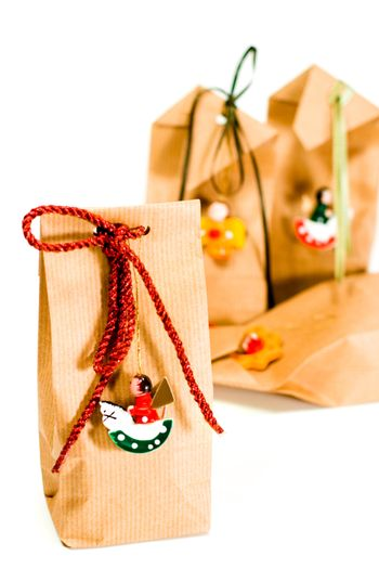 gift bags with decorations