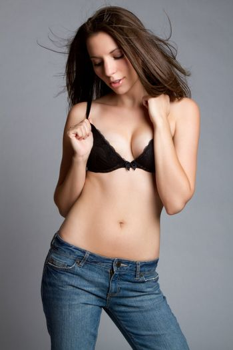 Fashion model woman wearing bra
