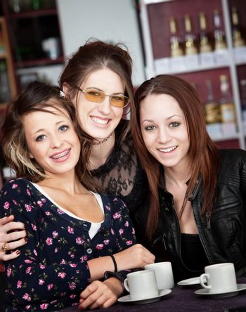 Threesome in a Cafe