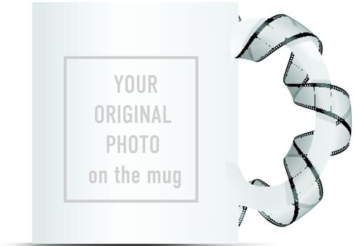 your original photo on the mug concept illustration