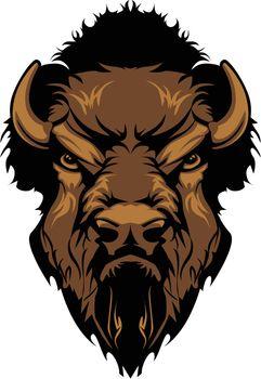 Buffalo Bison Mascot Head Graphic