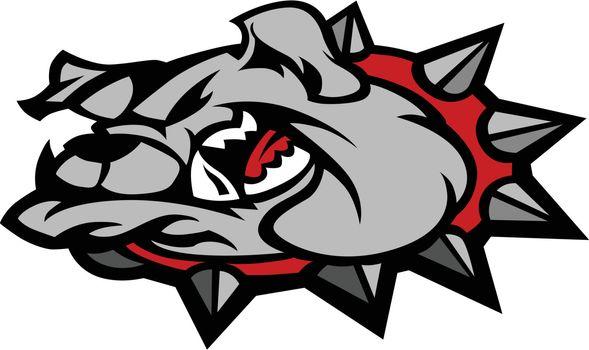 Bulldog Mascot Head Vector Illustration