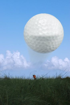 golfer on ballybunion golf course