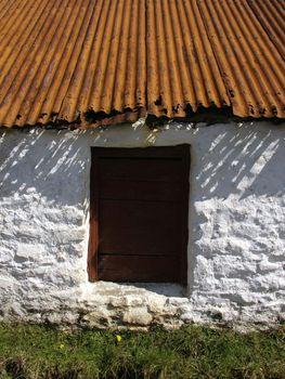 an old farm house window
