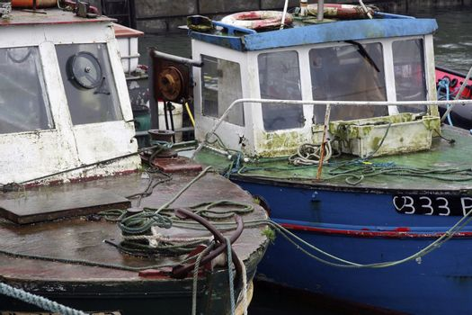 two old trawlers moored up