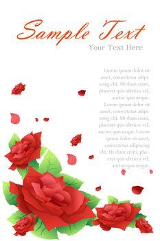 illustration of valentine card on white background