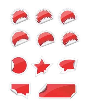 Set of trendy sticker on white background
