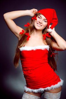 Sexy santa helper girl