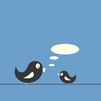 Speaking birds