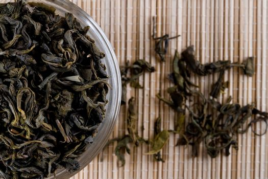 high quality green tea in glass