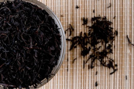 high quality black tea in glass