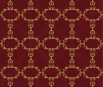 Vector seamless damask background