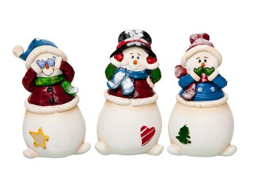 See, Hear, Speak no Evil Snowman